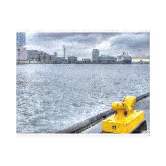 Hamburger Hafen Bild Leinwanddruck