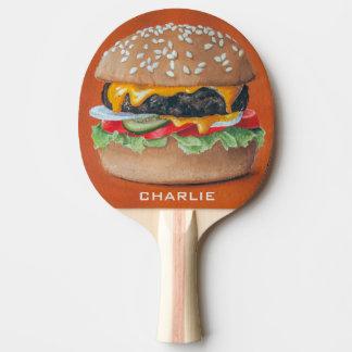 Hamburger-Illustrations-individueller Name Tischtennis Schläger