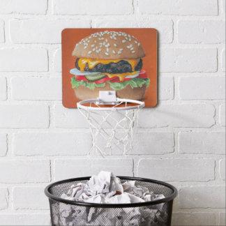 Hamburger-Illustrationsminiband Mini Basketball Netz