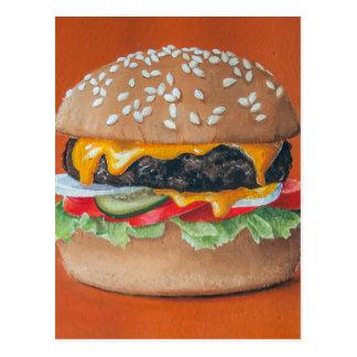 Hamburger-Illustrationspostkarte Postkarte