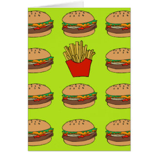 Hamburger- und Fischrogengrußkarte Karte