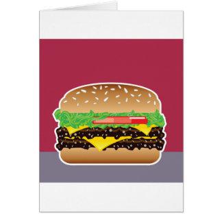 Hamburger-vektorkunst Karte