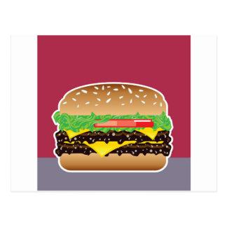 Hamburger-vektorkunst Postkarte