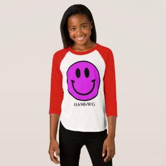 HAMbWG - Jersey - violetter smiley T-Shirt