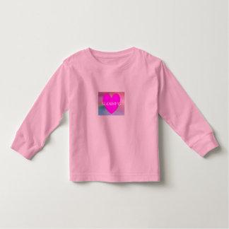 HAMbWG Kleinkind-lange Hülse T - violetter Kleinkind T-shirt