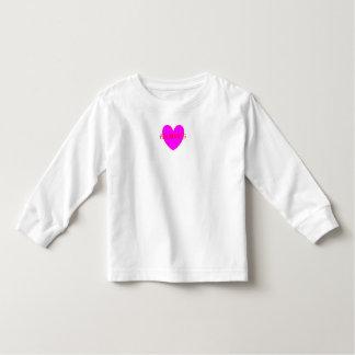 HAMbWG Kleinkind-lange Hülse T - violettes Herz Kleinkind T-shirt