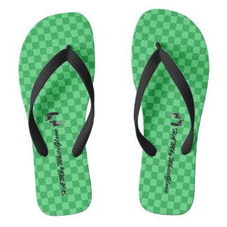 HAMbWG - Logo Füße des Purzelbaum-es-grün Flip Flops
