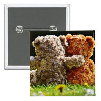 HAMbWG - quadratischer Knopf - Teddybär-Freunde Quadratischer Button 5,1 Cm