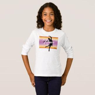 HAMbWG - T-Shirt - orange violette Ballerina