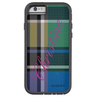 HAMbWG Xtreme heller karierter w Lavendel des Tough Xtreme iPhone 6 Hülle