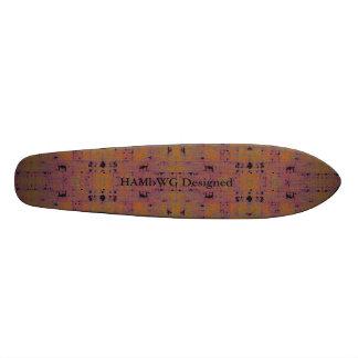 HAMbyWG entwarf - Skateboard - aquamarines 18,1 Cm Old School Skateboard Deck