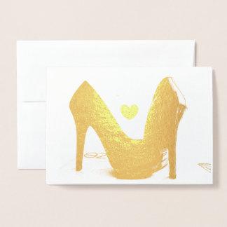 HAMByWG Goldfolien-Karte - Heels Folienkarte