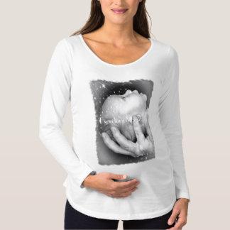 HAMbyWG lange Mutterschaftshülse T - Erwartung von Umstands-T-Shirt