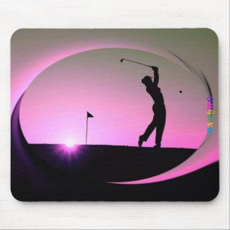 HAMbyWG - tapis de souris - golfeur de femme au