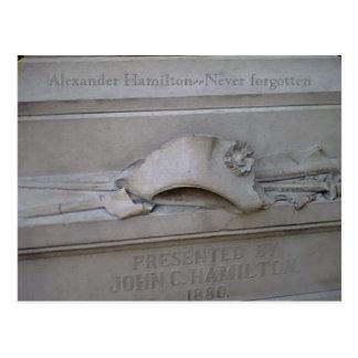 Hamilton-Statuekarte Postkarte