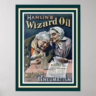 Hamlins Zauberer-Öl (kurieren Sie alle), 12 x Poster