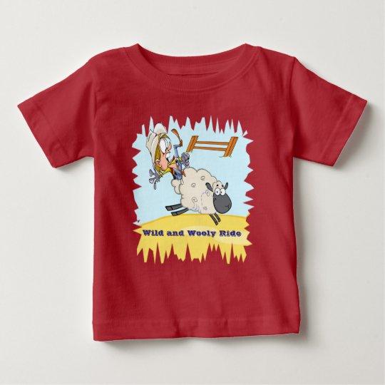 Hammelfleisch Bustin Rodeo-Baby-langes Baby T-shirt