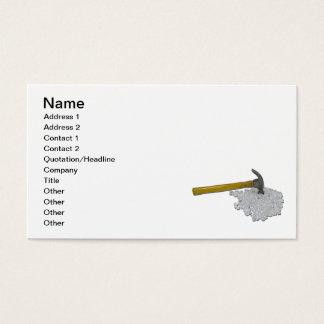 Hammer und defektes Glas Visitenkarte