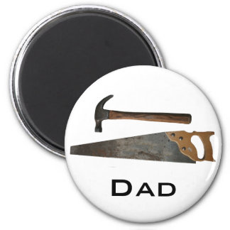 Hammer und Säge Runder Magnet 5,7 Cm