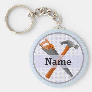 Hammer- und Sägeentwurf für Jungen Schlüsselanhänger