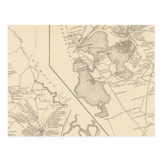 Hampton-Fälle, kastanienbraun Postkarte