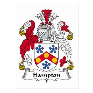 Hampton-Familienwappen Postkarte