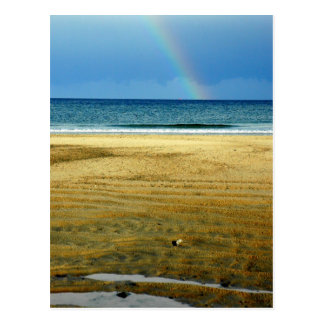 Hampton-Strand-Regenbogen Postkarte
