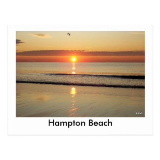 Hampton-Strand-Sonnenaufgang-Postkarte Postkarte