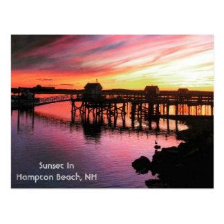 Hampton-Strand-Sonnenuntergang Postkarte