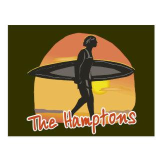 Hamptons Brandung Postkarte