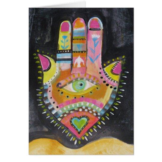 Hamsa Hand-KUNST Grußkarte