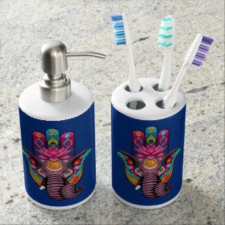 Hamsanesh Zahnbürste-Halter-und Seifen-Zufuhr-Set Badezimmer-Set