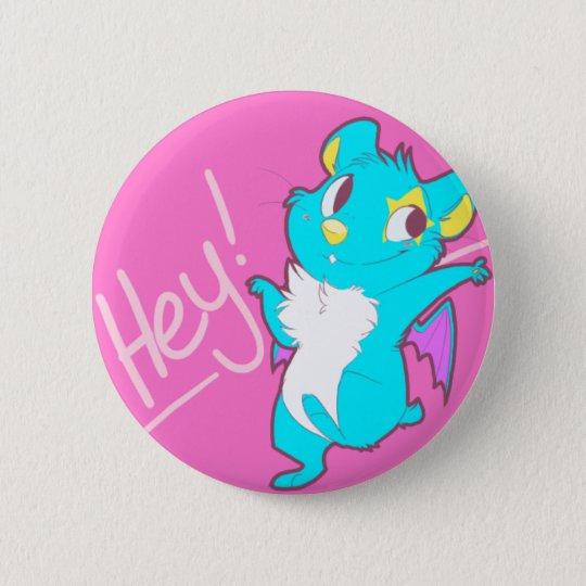 "Hamstar ""he!"" Knopf Runder Button 5,7 Cm"