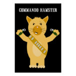 Hamster de commando posters