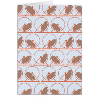 Hamster-Rad-Mitteilungskarten Karte