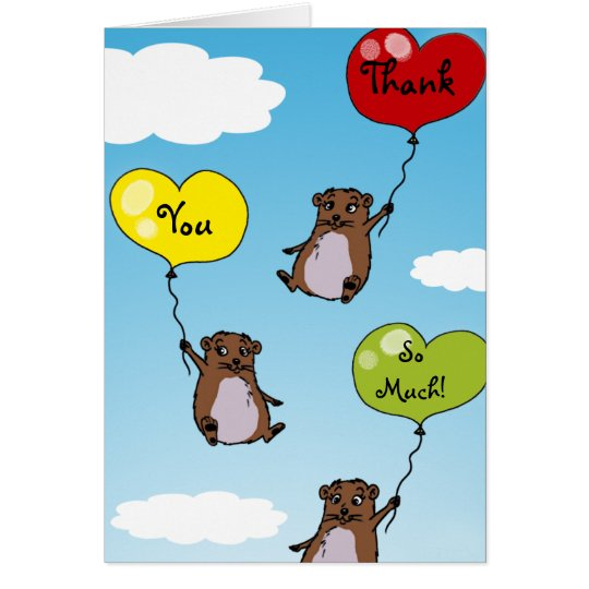 Hamsterballone, danke soviel karte