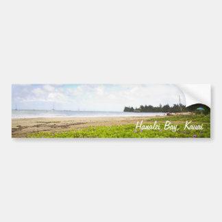 Hanalei Bucht, Kauai Hawaii Limited-Druck Autoaufkleber