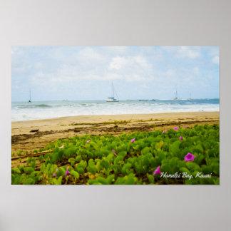 Hanalei Bucht • Kauai Hawaii • Strand-u. Poster