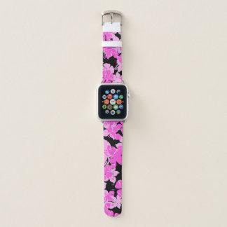 Hanalei hawaiische Hibiskus-Camouflage-Blumenrosa Apple Watch Armband