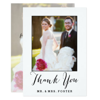 Hand beschriftetes Skript Wedding | danken Ihnen Karte
