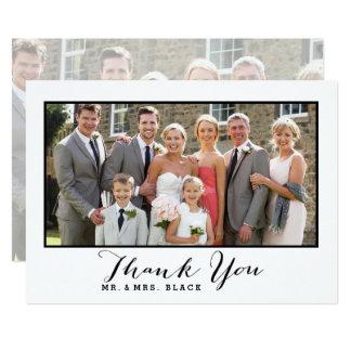 Hand beschriftetes Wedding Foto des Skript-| Karte