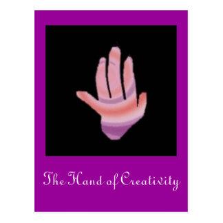 Hand, die Hand der Kreativität Postkarte