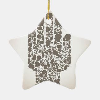 Hand eines Teils eines Körpers Keramik Stern-Ornament