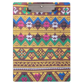 Hand gesponnenes thailändisches Silk Muster Klemmbrett