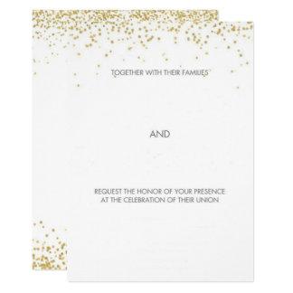 Hand gezeichnete Goldwunderliche Hochzeit Karte