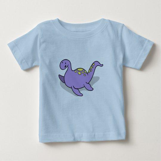 Hand gezeichneter niedlicher kleiner Dinosaurier Baby T-shirt