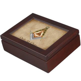 Hand gezeichnetes Quadrat und Kompass mit allem Erinnerungsboxen