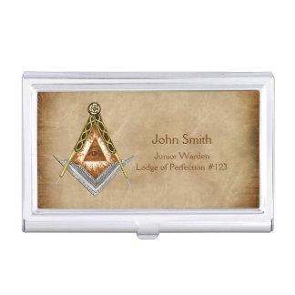 Hand gezeichnetes Quadrat und Kompass mit allem Visitenkarten Dose