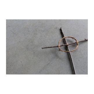 Hand konstruiertes keltisches Kreuz Acryldruck
