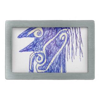 Hand zeichnen Monster-Porträt Ilustration Rechteckige Gürtelschnallen